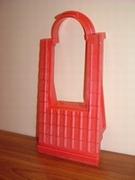 Toit rouge pour fenêtre