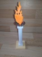 Poteau avec flamme