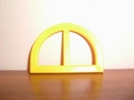 Fenêtre jaune arrondie