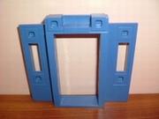 Encadrement de porte bleu
