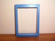 Encadrement de fenêtre bleu