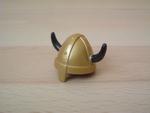 Casque viking doré