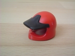 Casque de moto cross rouge