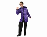 Deguisement costume Chanteur rock musicien violet