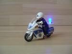 Moto de police avec lumière