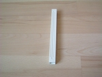 Poteau simple blanc 16,5 cm