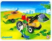 Playmobil Jardinier tracteur remorque 4486