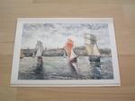 Claude Pissarro sortie du port 21,5 x 15 cm