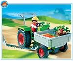 Playmobil Fermière tracteur et faucheuse  4497