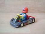 Karting gris avec pilote