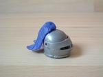 Casque chevalier plume bleue