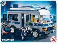 Playmobil Fourgon et policiers 4023