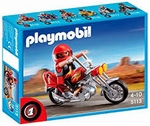 Playmobil Pilote moto Chopper 5113