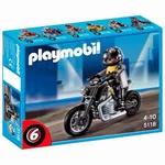 Playmobil Pilote Moto custom 5118