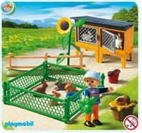 Playmobil Enclos à lapins et clapier 5123