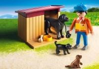 Playmobil Chiens et fermier 5125