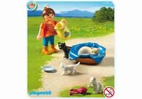 Playmobil Famille de chats et enfant 5126