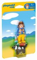 Playmobil Femme avec chien 1.2.3 6977