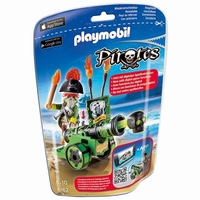 Playmobil Capitaine pirate avec canon 6162