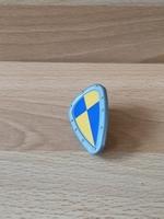 Bouclier bleu et jaune