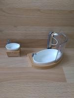 Ensemble baignoire et lavabo moderne