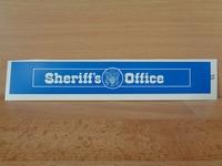Autocollant playmobil neuf enseigne sheriff's