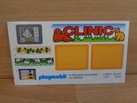 Autocollant playmobil neuf clinique