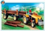 Playmobil Bûcheron troncs d'arbre et tracteur 4209