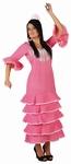Deguisement Robe flamenco rose pois SUR PLACE UNIQUEMENT