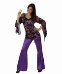 Deguisement Hippie femme violet SUR PLACE UNIQUEMENT