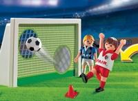 Playmobil Joueurs de football et but d'entraînement
