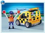 Playmobil Agent de signalisation et voiture 4319