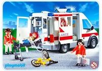 Playmobil Ambulanciers blessé et véhicule 4221