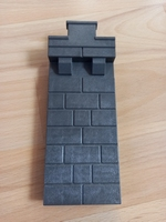 Mur avec créneau