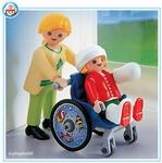 Playmobil Maman enfant et fauteuil roulant 4407
