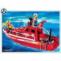Playmobil Pompiers sauveteurs et bateau 3128