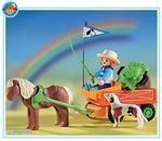 Playmobil Enfant charrette et poney  3118