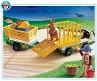 Playmobil Gardien de zoo et véhicule d'entretien 3242