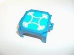 Tabouret carré bleu d'éléphant pour spectacle