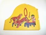 Mur avec tigres et dompteur
