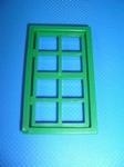 Fenêtre verte huit carreaux