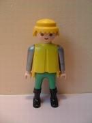 Chevalier argenté jaune et vert chateau