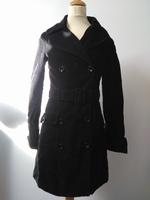 Manteau velours noir Bershka (36)