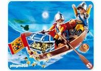 Playmobil Soldats avec barque et trésor 4295