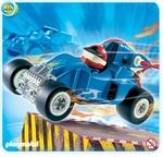 Playmobil Pilote avec voiture transformable bleue 4181