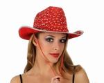 Chapeau disco rouge