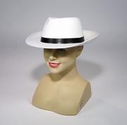 Chapeau gangster blanc
