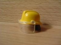 Casque de pompier jaune avec visière