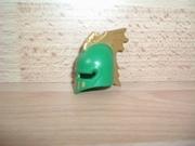Casque chevalier vert