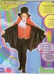 Deguisement costume Vampire cape rouge 10-12 ans